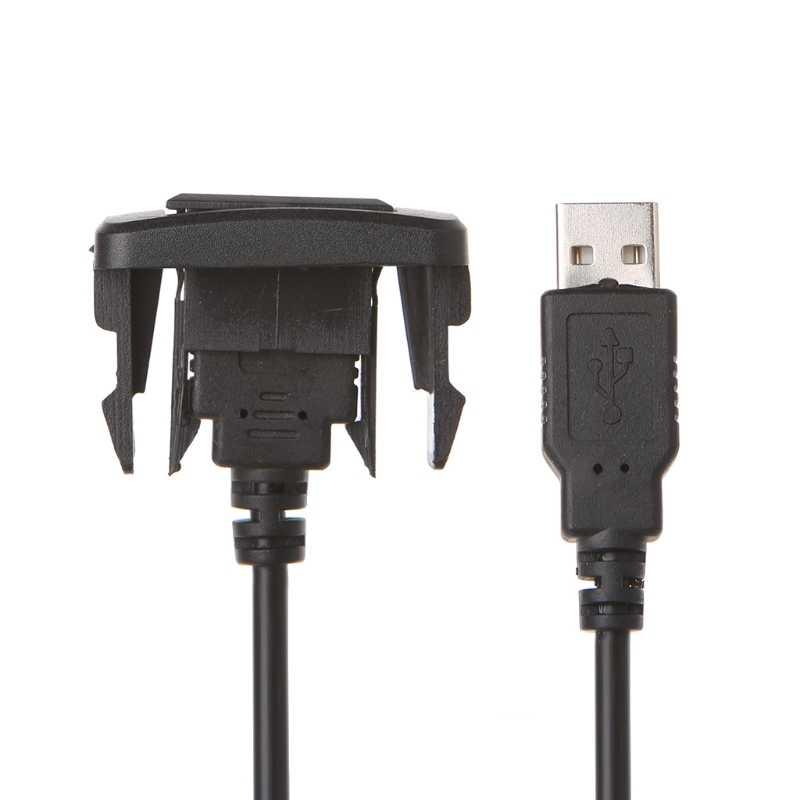 OOTDTY السيارات 12-24V AUX USB ميناء مهائي كابلات الحبل سلك USB محول الشحن لتويوتا VIGO/فيوس/ كورولا سيارة التصميم