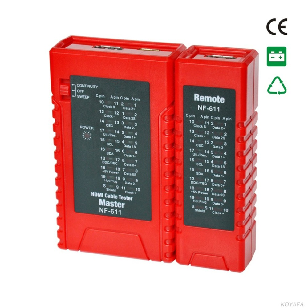 NF-611 High Definition Cable Tester Wire Tester Detector Diagnose Tone Tracer Standard HDMI Wire Tracker Line Finder цена