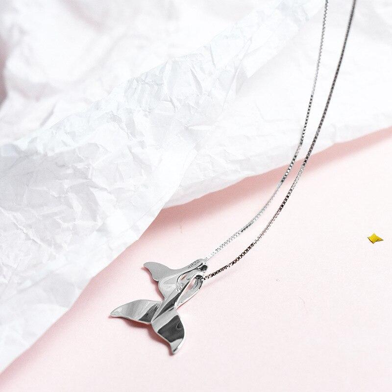 Résine Whale Tail Collier /& Boucle D/'Oreille Set