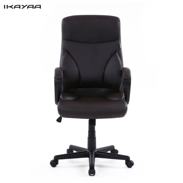 ikayaa us stock dxracer pu leather adjustable swivel office