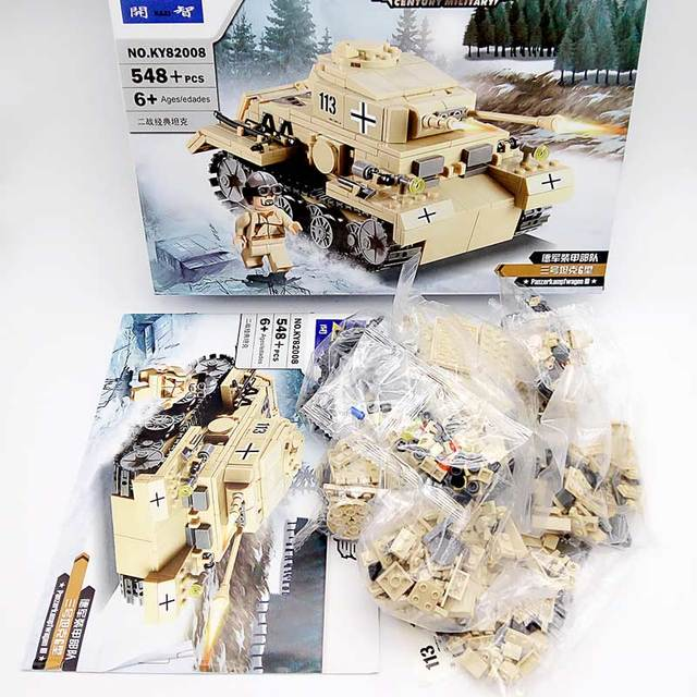 Kazi Brand Building Blocks Toys Compatible Bricks High Quality ABS Plastic Military Series Scale Model Tanks Toy