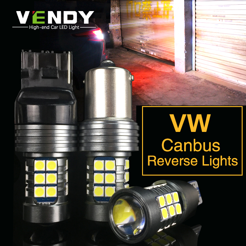 2x W16W 921 T15 Canbus Car LED Backup Light Auto Reverse Lamp Bulb For VW Touareg Passat B7 Jetta Golf 67 5 4 Touran Beetle Polo 2pcs brand new high quality superb error free 5050 smd 360 degrees led backup reverse light bulbs t15 for jeep grand cherokee