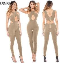 Overalls for Women Sexy Off Shoulder Elegant Fitness Jumpsuit Bodysuit Romper Fashion Female Body Suit Sleeveless