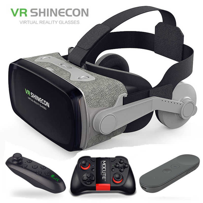 2019 Google Karton VR shinecon 9,0 Pro Version VR Virtuelle Realität 3D Gläser + Smart Bluetooth Drahtlose Fernbedienung Gamepad