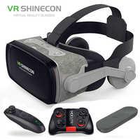 2019 Google carton VR shinecon 9.0 Pro Version VR réalité virtuelle 3D lunettes + Smart Bluetooth sans fil télécommande manette