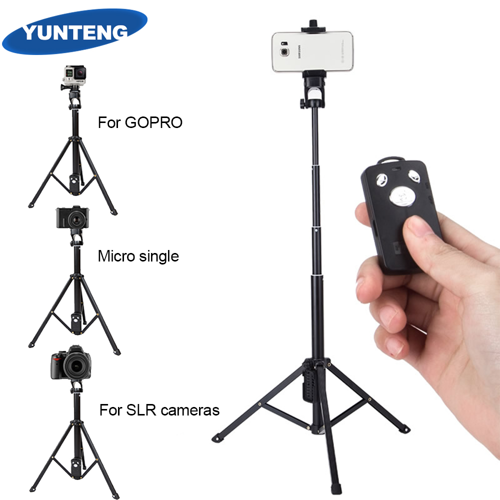 YUNTEN 1688 3in1 Bluetooth Remote Shutter Handle Selfie Stick Mini Table Tripod For IOS Android Iphone Samsung Smartphone Gopro