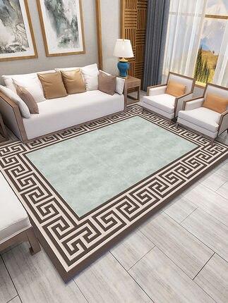 Tapis chinois salon Simple tapis moderne chambre pleine boutique chambre Table basse canapé tapis rectangulaire