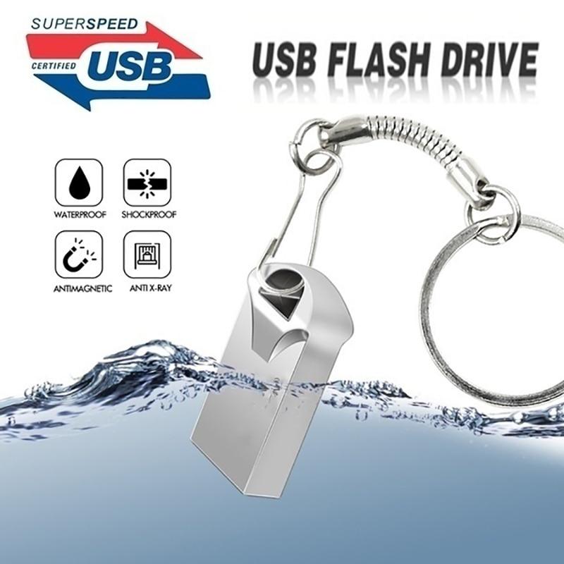 waterproof memory stick usb 3.0 Mini usb flash drive 128gb U disk key Pendrive 64GB 32GB 16GB Pen Drive 8GB 4GB custom made logo-in USB Flash Drives from Computer & Office