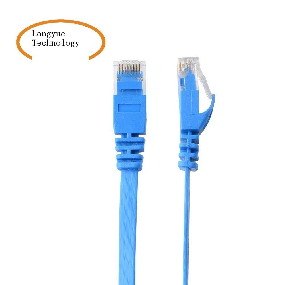 0.25m1.5ft1m 2M 3m10ft 5m10m15m20mPure Copper Wire CAT6 Flat UTP Ethernet Network Cable RJ45 Patch LAN Cable Black/white Color