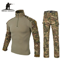 2014 Equipo Militar Army Men Airsoft Paintball BDU Ropa, G3 Combat Tactical Uniforme Camisa Pantalones Multicam Rodilleras, CP