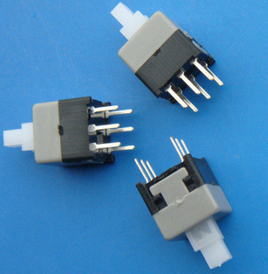 100PCS/Lot 5.8*5.8mm Self-locking Type Square Button Tactile Push Button Switch Momentary Tact DIP Through-Hole 6pin tn2ss rotary button switch gear selection type 2 22mm with self locking
