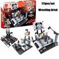 Classic WrestleMania Wrestling Weightlifting Gym Model The Wrestler Athlete Figure Building Blocks Bricks Toy For Boy's Gift