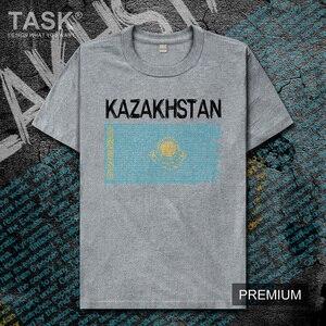 Kazakhstan Kazakh Kazakhstani KAZ Мужская футболка Новые Топы футболка одежда с коротким рукавом Свитшот Национальная сборная страна лето