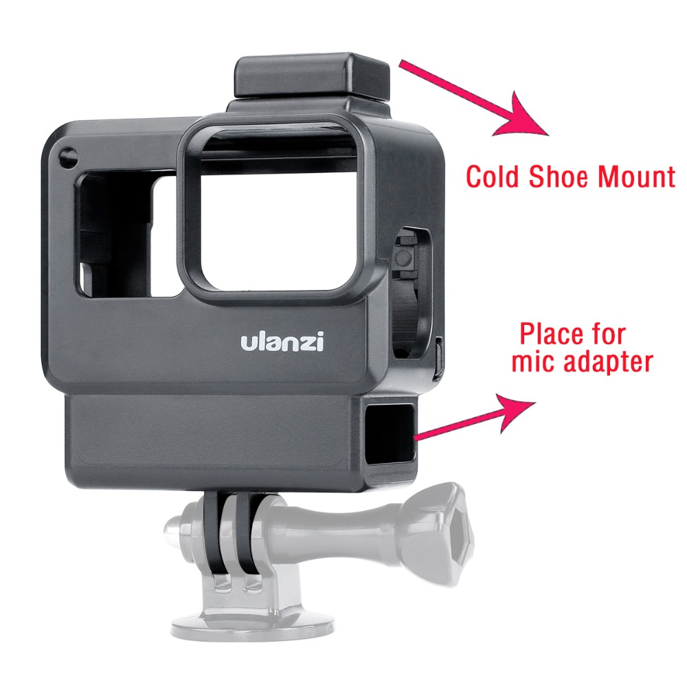 Image 2 - ULANZI V2 V2 Pro Vlog Housing Case for GoPro ,Vlogging Cage Frame Shell with Mic Cold Shoe Mount for GoPro Hero 7 6 5-in Sports Camcorder Cases from Consumer Electronics