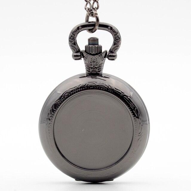 New Arrivals Black can be affixed photo Steampunk Quartz Pocket Watch Analog Pen
