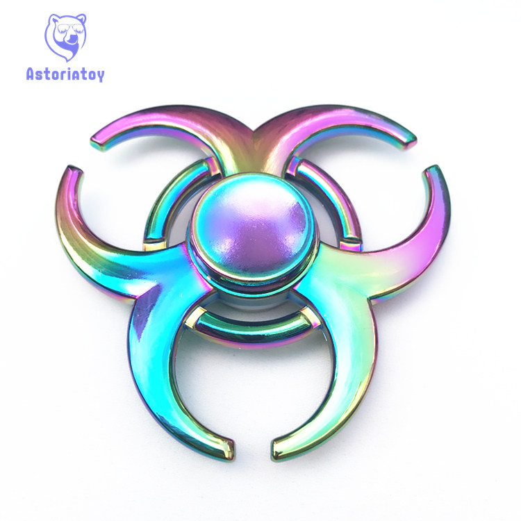 Colorful Horns style Hand spinners Metal Fidget Spinner For Autism and ADHD Kids spiner Tri Finger