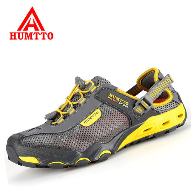 8b019f36e17 HUMTTO Outdoor Men Sneakers Breathable Hiking Shoes Big Size Men Women  Outdoor Hiking Sandals Men Trekking Trail Water Sandals