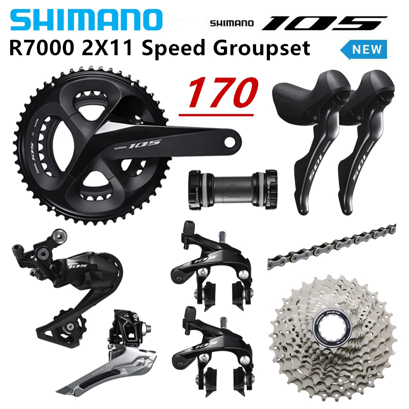 SHIMANO New 105 R7000 2X11 Speed Road Groupset with Brake 50 34 53 39T 170mm 105