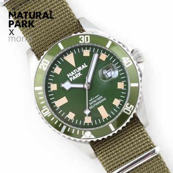 NATURAL PARK Sports Men Watch Quartz Watches Top Luxury Brand Nylon Wristwatch Waterproof Relogio Masculino Enlarge calendar