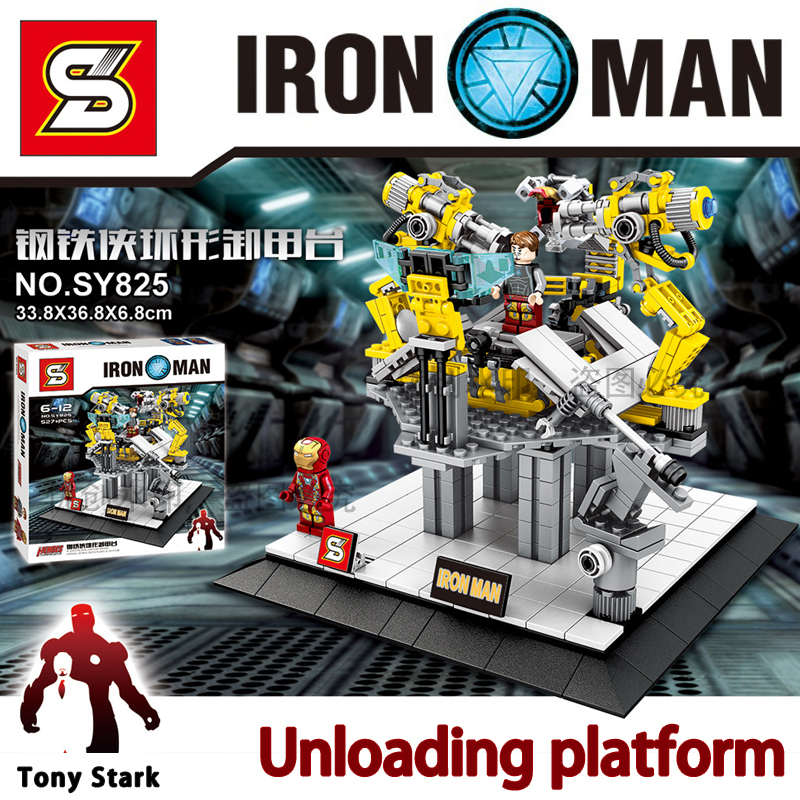 Marvel avengers super heroes Figures iron Man Tony Stark Building Blocks Sets Mo