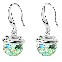 Fashion Crystal Drop Earrings For Women Crystal from Swarovski Elements Long Dangle Earrings Jewelry Female Birthday Gift 9651