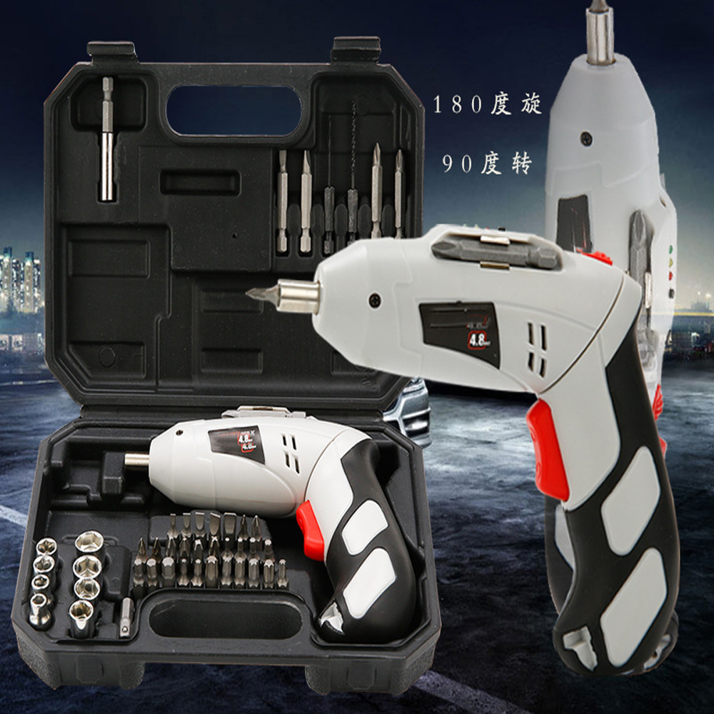 цена на electric screw driver Multifunctional Cordless Hand Drill Electric Screwdriver Set Electric Tools Home construction