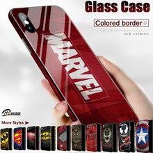 Роскошные чехлы для телефонов из закаленного стекла с рисунком комиксов Marvel Venom 3D для iPhone 11 Pro MAX XS MAX XR 8 7 6 6s Plus XS 10X