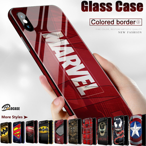 Luxury Marvel Comics Patterned Venom 3D Tempered Glass Material Phone Cases For iPhone 11 Pro MAX XS MAX XR SE2020 8 7 6 6s Plus(China)