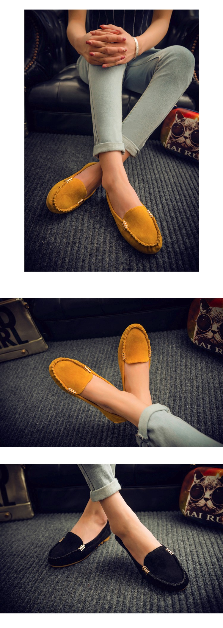 Hot Sale 2016 Summer Woman Flats New Fashion Pure Color Wild Concise Flat Casual Shoes Round Toe Comfortable Female Shoes DT81 (5)