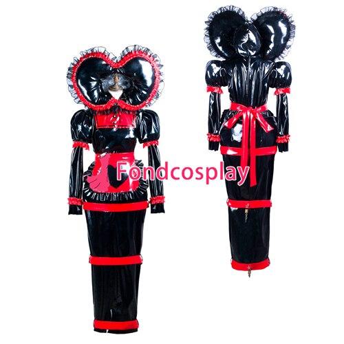 Soubrette pvc robe verrouillable Uniforme cosplay costume Sur Mesure [G3741]