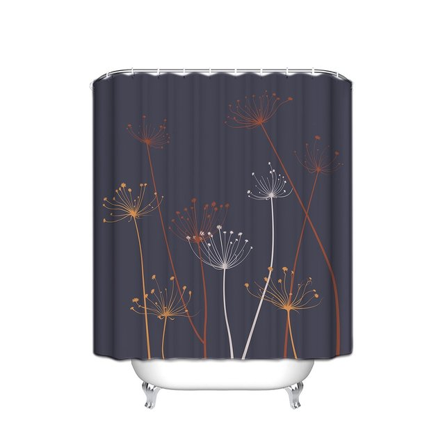 Thistle Design Fabric Bathroom Shower Curtain, Extra Long 72\