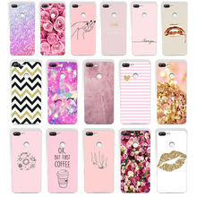 106SD Pink yellow gold glitter 02 gift Soft Silicone Tpu Cover phone Case for huawei Honor 8 9 Lite 8X p lite 2016