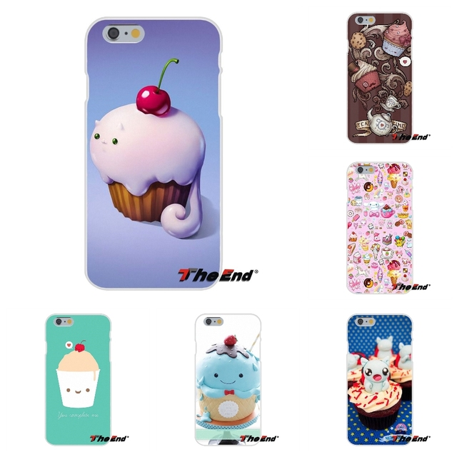 For iPhone X 4 4S 5 5S 5C SE 6 6S 7 8 Plus Galaxy Grand Core Prime Alpha Cute Chocolate Nutella Cupcakes Silicone Phone Case