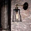 Современный короткий Лофт винтажный Промышленный Склад прикроватный бар зеркало лестницы кованого железа Эдисона Бра Лампа осветительное...