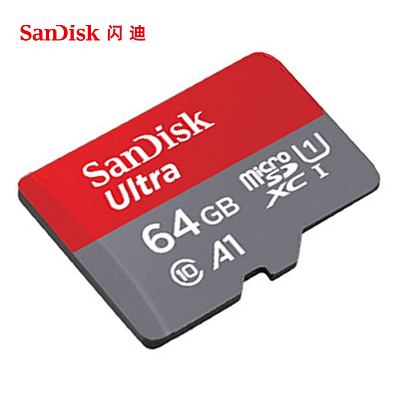100% Original SanDisk Micro SD Card 64GB 100MB/s 16GB 32GB 128GB 256GB U1 Class 10 Memory Card microsd Flash TF Card genuine sandisk microsd memory card 32gb class 4