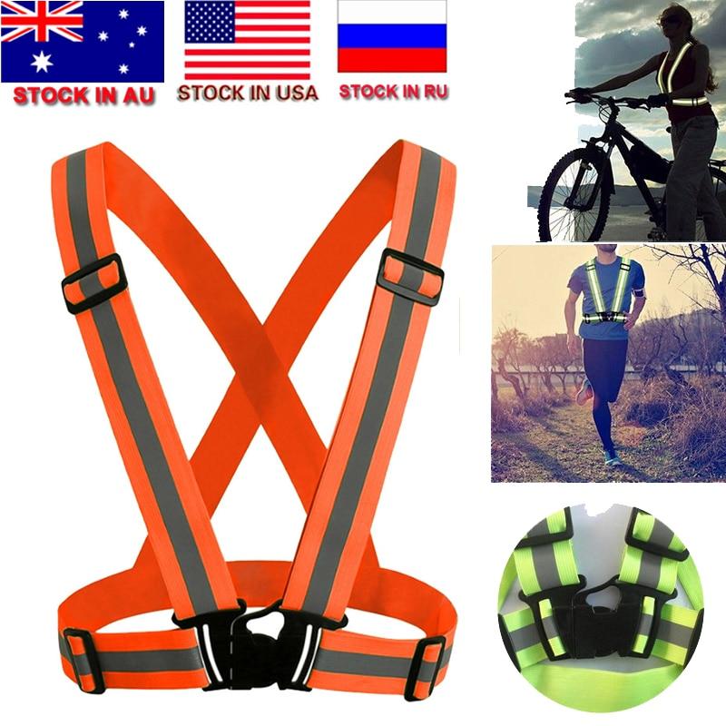 Light Reflective Elastic High Visibility Unisex Outdoor Clothes Vest Belt Safety