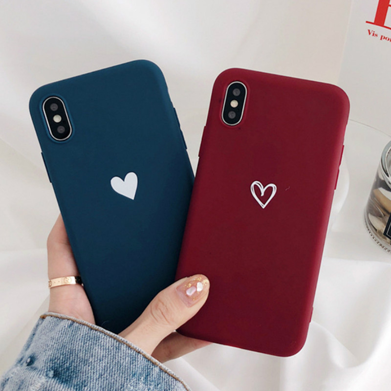 Matte Love Heart Pattern Phone <font><b>Case</b></font> for Xiaomi <font><b>Mi</b></font> 5 5X 6X 8 <font><b>8SE</b></font> A1 A2 Lite Redmi Note 4 4A 4X 5A 6A 6 Pro S2 Soft Silicone Cover image
