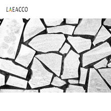 Laeacco Gray Stone Slate Wall Piled Pattern Wallpaper Baby Child Photography Backgrounds Photographic Backdrops For Photo Studio