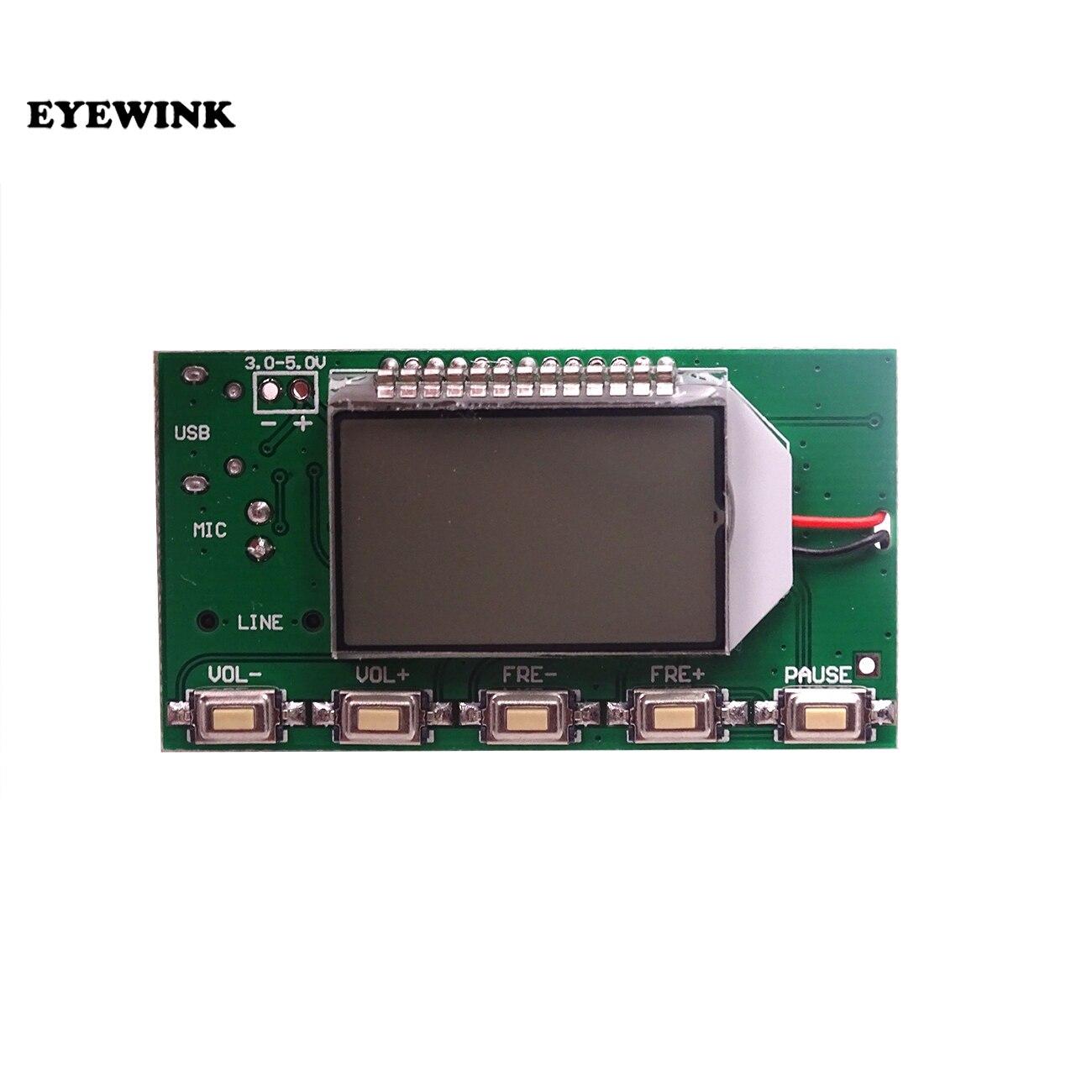 Модульный стерео FM-трансмиттер DSP PLL 87-108 МГц, Цифровая беспроводная микрофонная плата, многофункциональная модуляция частоты