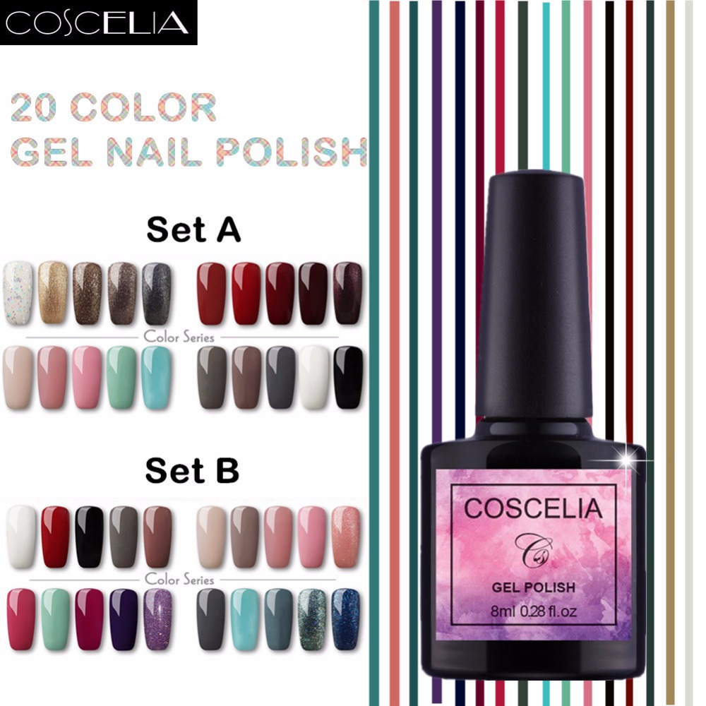20pcs Coscelia Soak Off Uv Gel Nail Polish Set Optional Htb1sshflpbbxvq6fxh