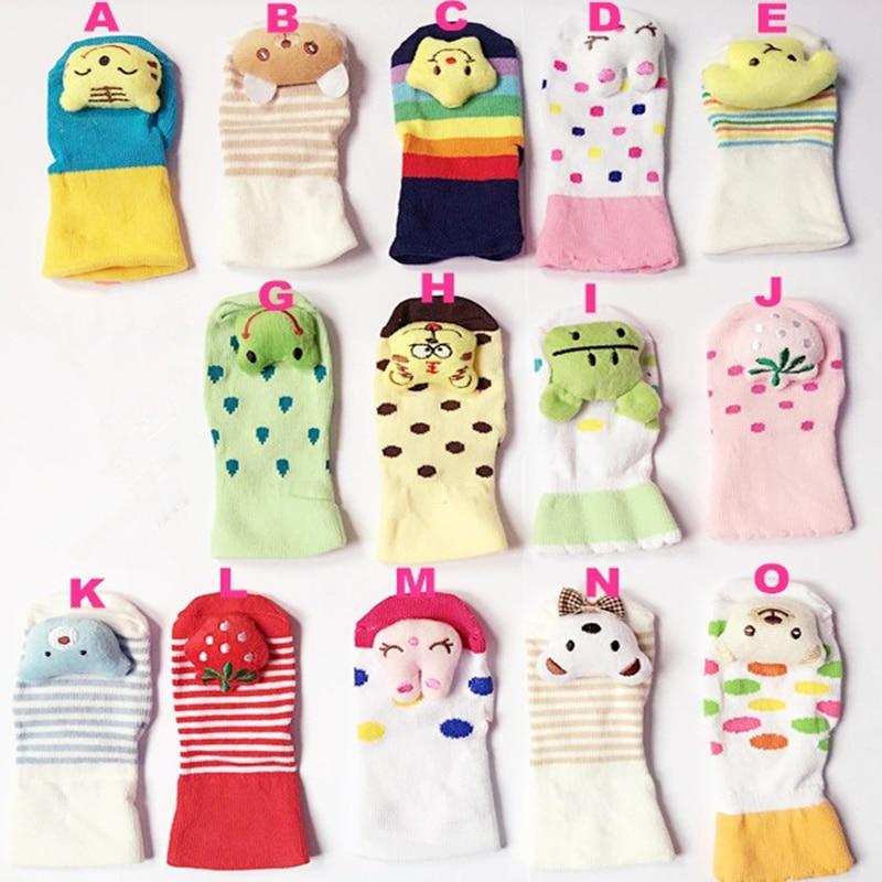 Cartoon Slipper Cute Newborn Lovely Baby Girl Boy Unisex Anti-slip Socks Animal Boots 0-6 Months Cute Newborn Lovely Baby Socks