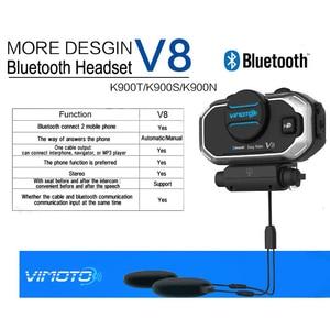 Image 3 - Phiên Bản Tiếng Anh Dễ Dàng Rider Vimoto V8 Mũ Bảo Hiểm Tai Nghe Bluetooth Xe Máy Stereo Tai Nghe Dành Cho Điện Thoại Di Động Và Định Vị Vô Tuyến