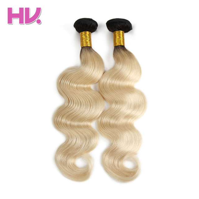 Hair Villa Remy Brazilian Body Wave Human Hair Weft 1b613 Colored