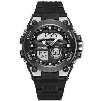 Мужские спортивные наручные часы мужские цифровые часы Лидер продаж Мужские Цифровые кварцевые часы 2018 военный армейский двойной дисплей ...