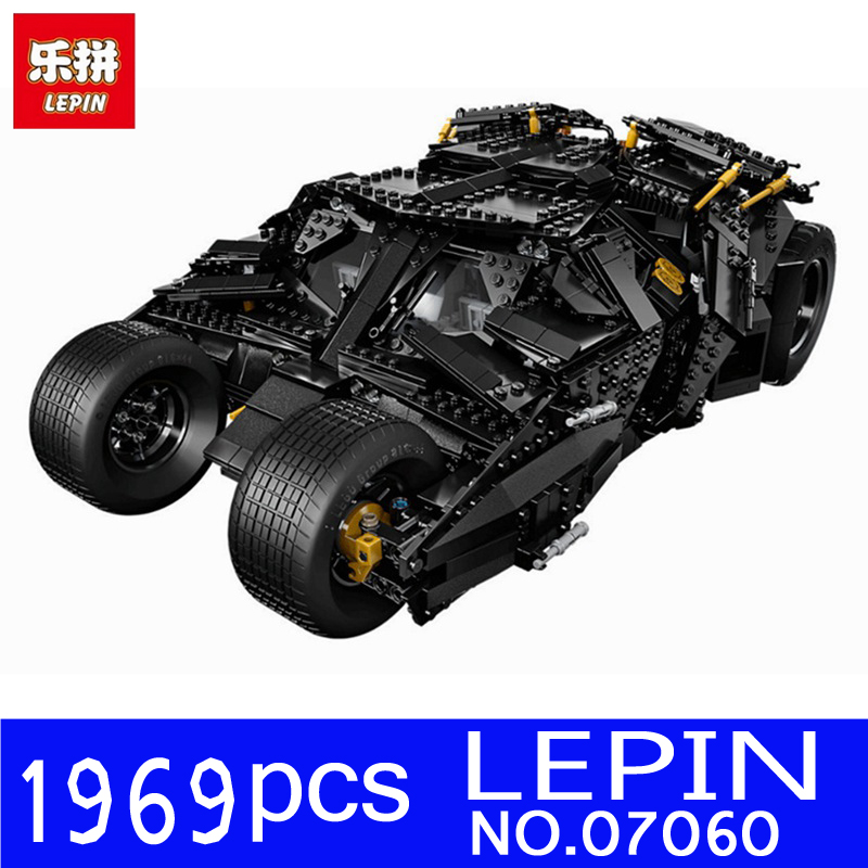 LEPIN 07060 1969Pcs NEW Super Hero Movie Series Batman Armored Chariot Set Building Blocks Bricks for Children Toys Gift 76023 loz mini blocks batman robin ironman thor loki harley quinn poison mini super hero bricks diy building blocks toys gift
