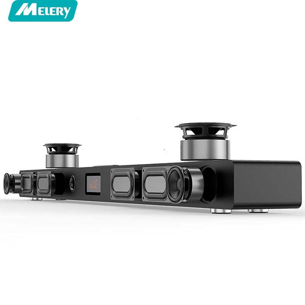 Саундбар A9 Hi Fi Bluetooth Sound Bar 5,1 дома Театр объемного Системы Деревянный Звук динамик в виде бруска для ТВ НЧ динамик Беспроводной стены Кино