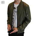 2016 High Quality Men's Thin Style Army Green Military motorcycle Man Flight Jacket Pilot Men Bomber Jackets Zipper Coat Jaqueta