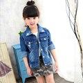 Jaqueta de Inverno Menina Jaqueta Com Capuz Crianças Jaqueta Jeans para meninas Crianças Roupas de Bebê Casaco Outerwear Casuais Crianças da Pele Do Falso casacos