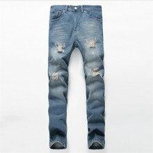 Fashion Men Jeans New Arrival Design Slim Fit Fashion Jeans For Men Good Quality Blue Hole in jeans