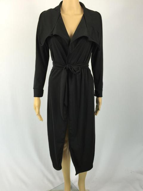 Европа и Америка бренд женской одежды цвет длинный рукав пальто 2 женский длинный плащ большой ярдов